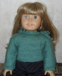American Girl Knit Pullover. Very Easy FREE pattern.