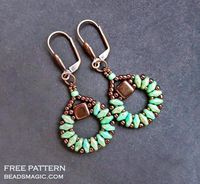 Free pattern for earringsSanremowith tila and superduo