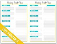 meal planner, meals and planners.