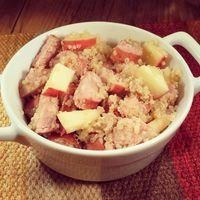 Quinoa Hash with Apples and Chicken Sausage Recipe