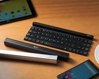 LG is building anticipation for the upcoming IFA trade show, unveiling a Bluetooth keyboard that rolls up along four rows of keys to become a super-compact stic