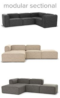 The new QUADRA collection is a modular sectional available in three neutral fabrics. You can also purchase individual chaises, corner units, and ottomans to customize QUADRA to fit your space perfectly. Learn more.