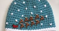 Repeat Crafter Me: Crochet Santa Sleigh and Reindeer Hat