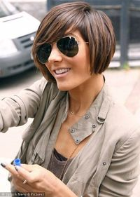 The next logical step of an asymmetrical short hair cut in growing it out is a bob.. I'd ROCK THIS