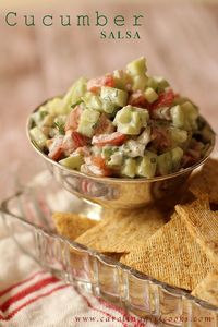 This Cucumber Salsa is light, it's pretty healthy for you and it's served cold which makes it perfect for summer entertaining and comes together in minutes.