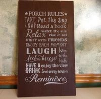 Rustic Wood Pallet Porch Sign, Porch Rules Sign, Front Porch Decor, Outdoor Wall Sign, Farmhouse Decor, Deck Sign, Back Porch Welcome Sign $47.00