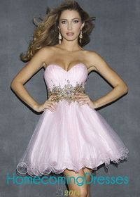 Night Moves 6820 Pink Beading Waistline Tulle Short Party Dress
