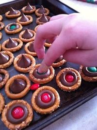 Super easy. Christmas pretzels.