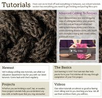 Check out www.knitpicks.com for video tutorials. Great for beginners who are visual learners, all the way to experts learning a complicated new pattern! The site also has a number of free patterns available for download