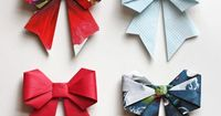 Make origami bows from magazine pages http://www.unitednow.com/search.aspx?searchterm=paper+squares