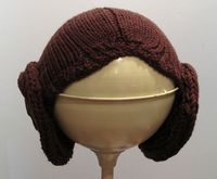 princess leia hair knitting pattern halloween star wars. I want to knit this for a friend of mine. =)
