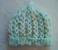 Newborn Baby Hat By Cathy - Free Knitted Pattern - (pattern-knit)