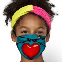 Heart Kids Face Mask $14.95