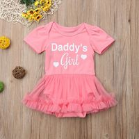 Hot Fashion Girl Jumpsuits 0-18M Girl Baby Rompers Newborn Girl Pink Princess Party Tutu Outfit