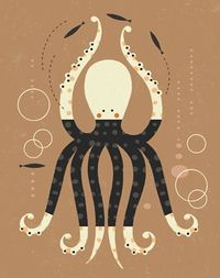 Tracy Walker Illustration - Illustration - octopus©tracywalker