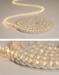 Awesome! Crochet around a rope light to create a light-up rug. #Home