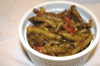 Cajun Smothered Green Beans - These were very good and I am not a fan of green beans.