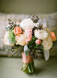 Privet Peony and Anemone Bouquet