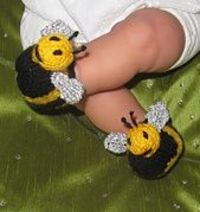 Baby Buzzy Bee Boots by Christine Grant (madmonkeyknits.com) Ravelry: Pattern Search