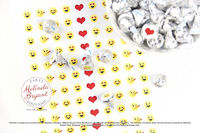 Hearts and Smiley Face Themed Valentine Candy Stickers for Kids / Birthday Party Dessert Table Decor for Tweens $7.48