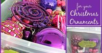 Simple Storage Solutions for your Christmas Ornaments #Storage #Organization