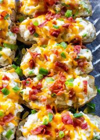 The Ultimate Twice Baked Potatoes with bacon and cheese