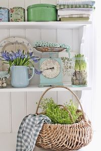 Spring in blue and green