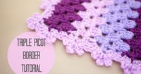 CROCHET: Triple picot border tutorial | Bella Coco. Just the edging I was looking for!