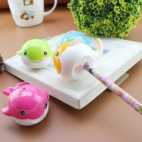 Twin Whale Pencil Sharpener. Different Colours School Office Stationery. 6.5cm x 5.5cm £5.99