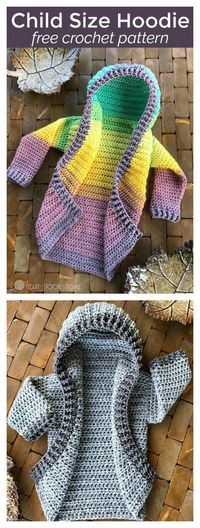 This Child Size Hooded Cardigan Free Crochet Pattern is surprisingly easy to make. The tutorial will make everything clear for you.