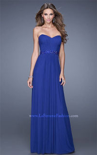 Sweetheart Ruched Evening Prom Gown by La Femme 20698