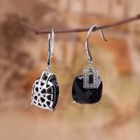 925 Silver Inlaid Crystal Earrings / Crystal Fashion Earrings / Green Crystal Earrings / Blue Sandstone Earrings/Dangle & Drop Earrings Ask a question
