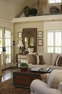 Love this cottage style sitting room