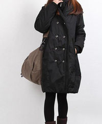 winter hoodie babydoll padded Long tunic Quilted Coat