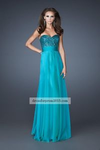 Full Length A Line Peacock Sequin Embellished Prom Dresses Cheap