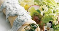 Checkout this delicious low calorie Summer Vegetable Crepes Recipe at LaaLoosh.com! With just 4 Points + each, these light and healthy crepes are the perfect lu