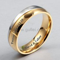 Custom Mens Cheap Promise Ring 6mm Gold Plated Titanium https://www.gullei.com/custom-gold-plated-mens-titanium-engagement-ring.html