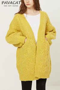 Pavacat Pure Color Cable Knit Cardigan $60.00