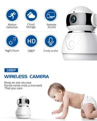 Bakeey 1080P 2.0MP HD Wireless WiFi Night Vision Baby Monitor Security Surveillance IP Camera For Smart Home