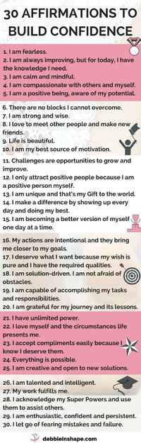 Affirmations to build confidence are an effective way to overcome fear. Check this list and start changing your mindset.