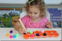 """Keeping Your Toddler Occupied During School Time...LOVE her homeschool organization system """"work boxes"""""""