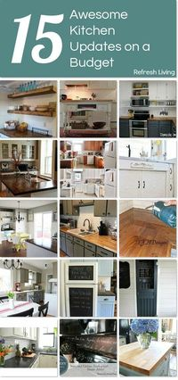 Looking to change up the look of your kitchen without spending a lot of money? You'll love this collection of projects to update your kitchen on a budget!