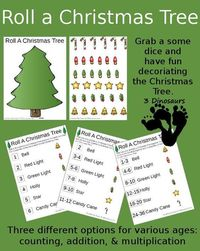 FREE Roll a Tree Game Printables