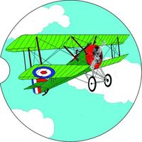 Biplane, 2 Absorbent Car Coasters, Car Accessories for her, Auto Coaster, Coaster, Cup Holder Coaster, Gift For Her, For Him $14.00