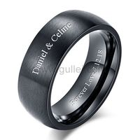 Personalized Promise Ring for Men Black and Blue 8mm https://www.gullei.com/personalized-promise-ring-for-men-black-and-blue-8mm.html