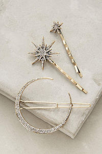 Constellation hair clips by Anthropologie