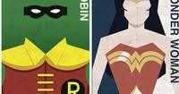 Love these vintage looking prints. (And there are a lot of other cool things on the page.) 34 Superhero Artworks With The Power To Move You