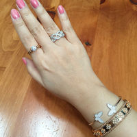 Sterling Silver Vintage Inspired Braided Pave Ring $54.00