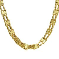 Handmade XL 10MM 18K Gold Plated Cage Chain £69.95
