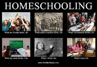 HAHA it's so true. people's ideas about homeschooling are a bit odd.